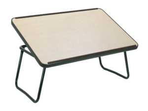Bed tray with reclining tabletop